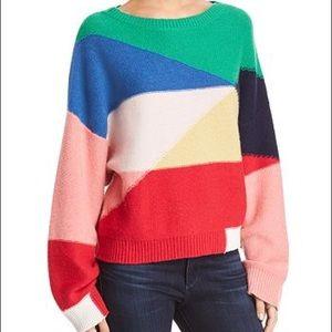 Joie Megu Colorblock Cashmere Sweater